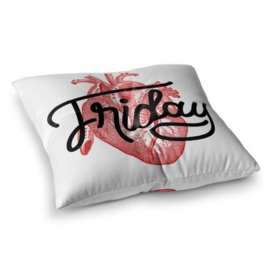 Roberlan Friday Heart Square Floor Pillow Size: 26 x 26