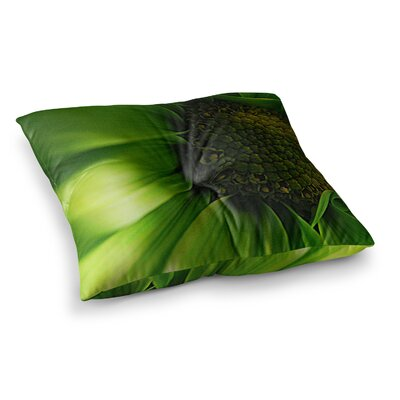 Robin Dickinson Flower Square Floor Pillow Size: 26 x 26