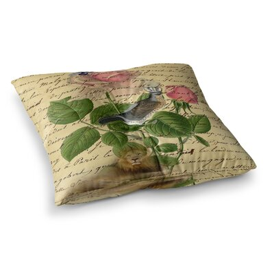 Suzanne Carter Vintage Dream Floral Script Square Floor Pillow Size: 23 x 23