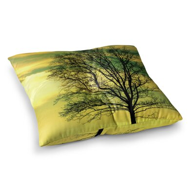 Robin Dickinson Tree Sky Square Floor Pillow Size: 23 x 23