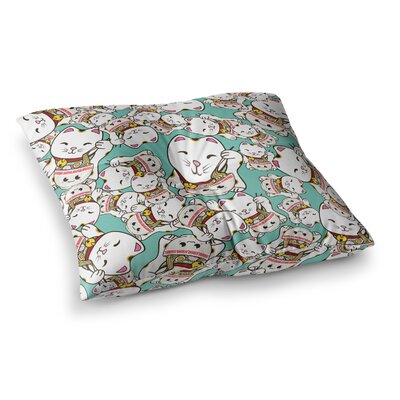 Juan Paolo Ramen Cats Square Floor Pillow Size: 23 x 23