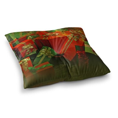 Snap Studio Wrapped in Cheer Presents Square Floor Pillow Size: 23 x 23