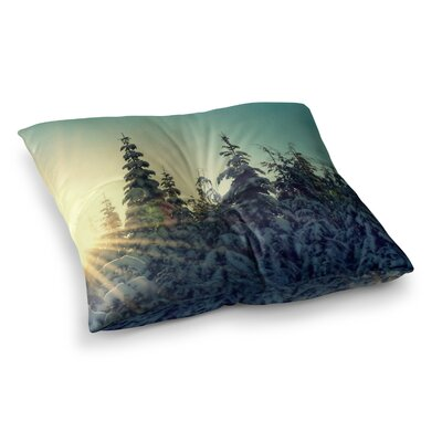 Robin Dickinson Shine Bright Snowy Trees Square Floor Pillow Size: 26 x 26
