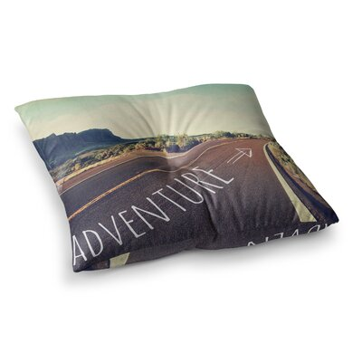 Sylvia Cook Adventure Desert Road Square Floor Pillow Size: 26 x 26