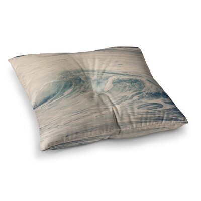 Sylvia Coomes Waves 1 Square Floor Pillow Size: 23 x 23