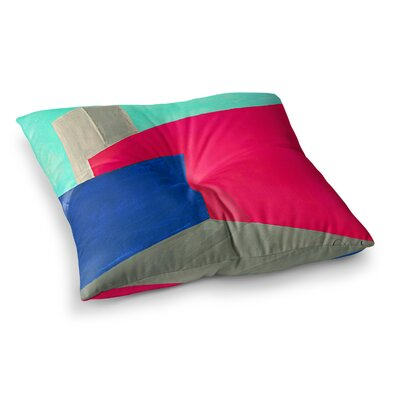 Oriana Cordero Corner Geometry Square Floor Pillow Size: 23 x 23