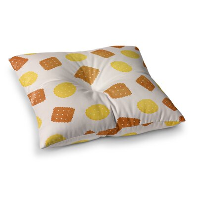 Strawberringo Do You Love Biscuits Square Floor Pillow Size: 23 x 23