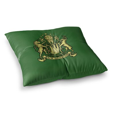 BarmalisiRTB Back To Nature Illustration Square Floor Pillow Size: 23 x 23