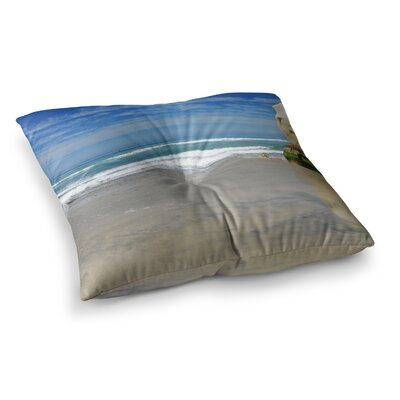 Nick Nareshni Solana Beach Sands Nature Coastal Square Floor Pillow Size: 23 x 23