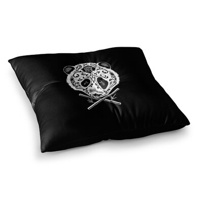 BarmalisiRTB Panda De La Muerte Digital Square Floor Pillow Size: 23 x 23