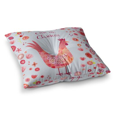 Nic Squirrell Chin Up; Chicken Square Floor Pillow Size: 26 x 26