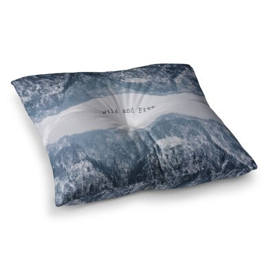 Suzanne Carter Wild and Free Digital Square Floor Pillow Size: 26 x 26