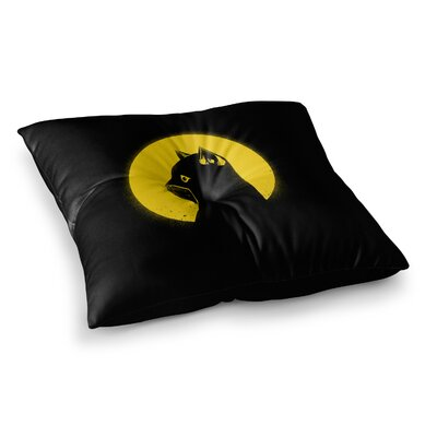 BarmalisiRTB Hero Cat Digital Square Floor Pillow Size: 23 x 23