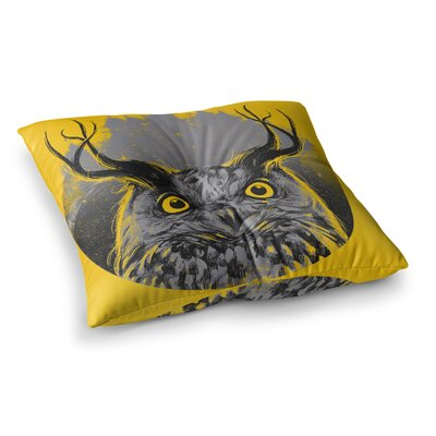 BarmalisiRTB Majesty Owl Square Floor Pillow Size: 26 x 26