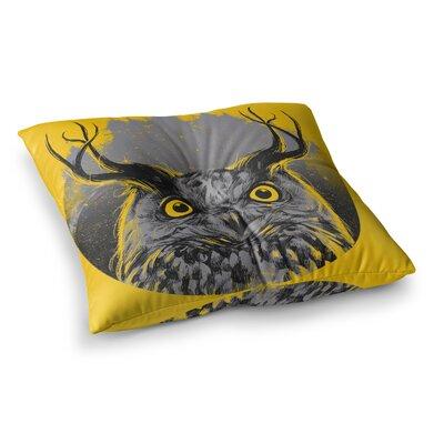 BarmalisiRTB Majesty Owl Square Floor Pillow Size: 23 x 23
