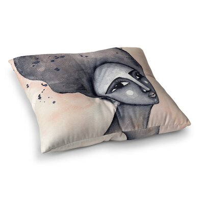 Stacey-Ann Cole Yearning African American Art Square Floor Pillow Size: 26 x 26