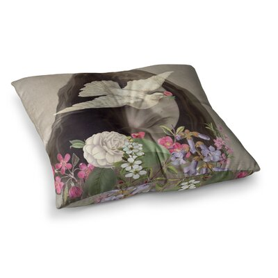 Suzanne Carter Doves Eyes Square Floor Pillow Size: 23 x 23