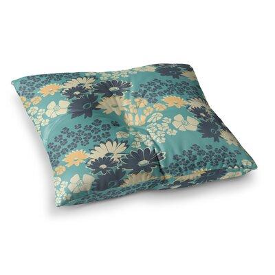 Zara Martina Mansen Bouquet Square Floor Pillow Color: Green, Size: 26 x 26