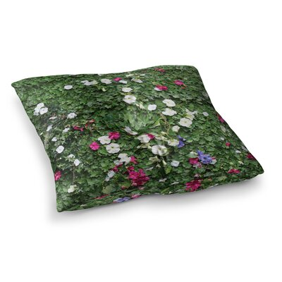 Susan Sanders Flower Vine Wall Nature Magenta Square Floor Pillow Size: 23 x 23