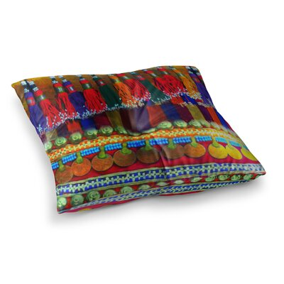 S Seema Z Boho Mania Ethnic Square Floor Pillow Size: 23 x 23