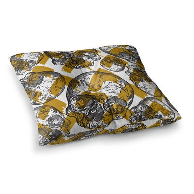 Sam Posnick Modern Punk Skull Pattern Illustration Square Floor Pillow Size: 23 x 23