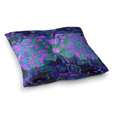 Nina May Cerruda Orchid Square Floor Pillow Size: 23 x 23, Color: Blue/Pink