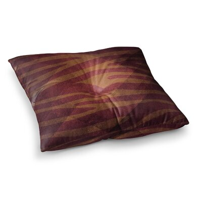 Nick Atkinson Zebra Print Texture Square Floor Pillow Size: 23 x 23, Color: Brown