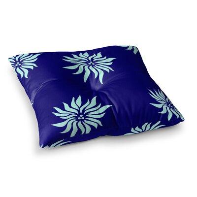NL Designs Poinsettias Square Floor Pillow Color: Blue, Size: 26 x 26