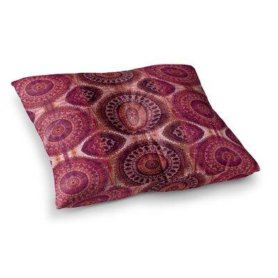 Nina May Magenta Mandala Stripe Magenta Mixed Media Square Floor Pillow Size: 23 x 23, Color: Red