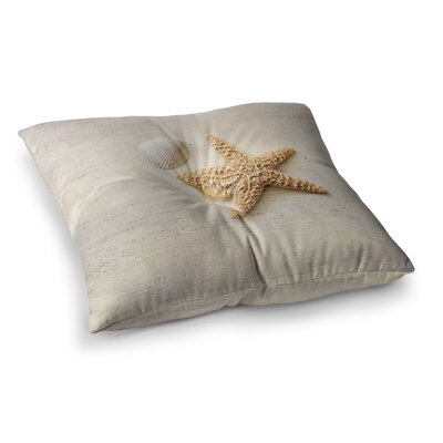 Sylvia Cook Starfish and Shell Square Floor Pillow Size: 26 x 26