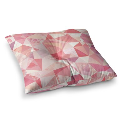 Nic Squirrell Crumpled Geometric Square Floor Pillow Size: 23 x 23