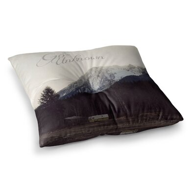 Robin Dickinson Go into the Unknown Square Floor Pillow Size: 26 x 26