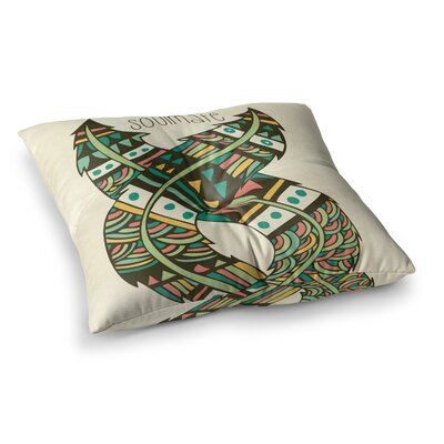 Pom Graphic Design Soulmate Feathers Square Floor Pillow Size: 23