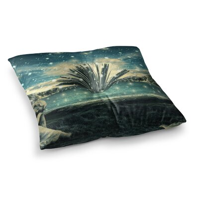 888 Design The Knowledge Keeper Fantasy Square Floor Pillow Size: 26 x 26