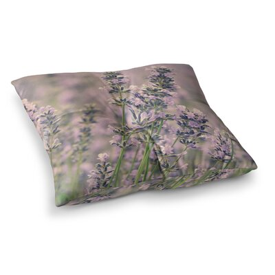 Robin Dickinson Smell the Flowers Square Floor Pillow Size: 26 x 26