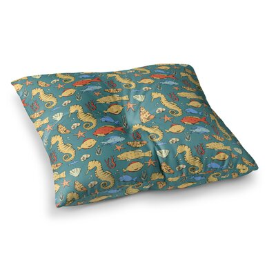 Stephanie Vaeth Under the Sea Illustration Square Floor Pillow Size: 26 x 26