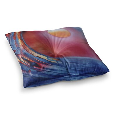 Infinite Spray Art Ideal Barrel Square Floor Pillow Size: 26 x 26