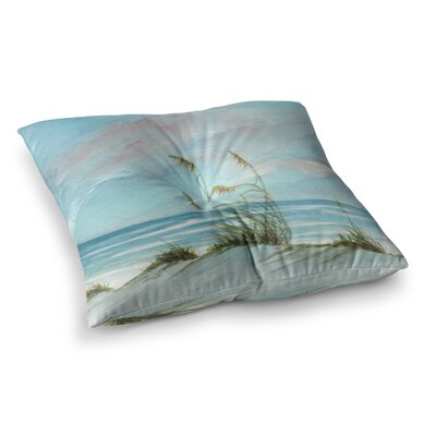 Rosie Brown Sea Oats Square Floor Pillow Size: 26 x 26