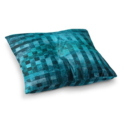 Suzanne Carter Mosaic Ocean Pattern Square Floor Pillow Size: 23 x 23