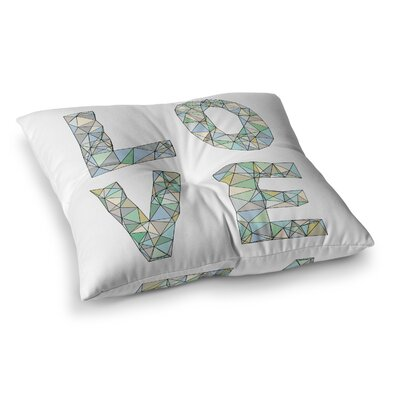 Skye Zambrana Four Letter Word Square Floor Pillow Size: 26 x 26