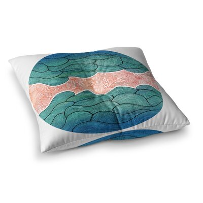Pom Graphic Design Ocean Flow Square Floor Pillow Size: 26 x 26