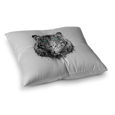 BarmalisiRTB Tiger Gaze Square Floor Pillow Size: 23 x 23