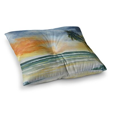 Rosie Brown End of Day Beach Square Floor Pillow Size: 23 x 23