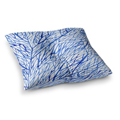 Strawberringo Branches Square Floor Pillow Size: 23 x 23
