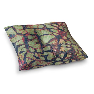 Robin Dickinson Pretty Patina Bark Square Floor Pillow Size: 26 x 26