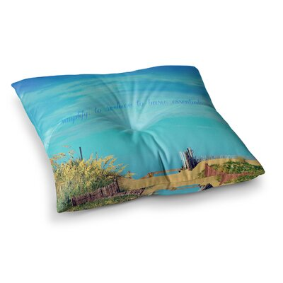 Robin Dickinson Simplify Beach Sky Square Floor Pillow Size: 26 x 26