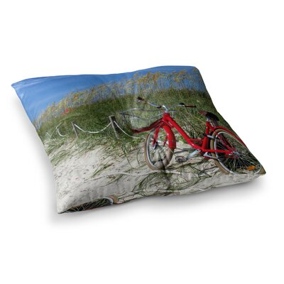 Philip Brown A Day at the Beach Square Floor Pillow Size: 23 x 23