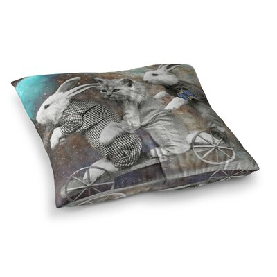 Suzanne Carter Space Travel Square Floor Pillow Size: 23 x 23