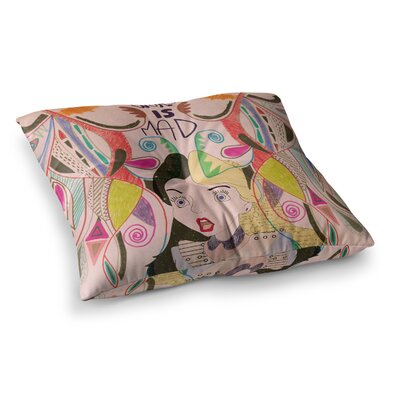 Vasare Nar Alice in Wonderland Square Floor Pillow Size: 26 x 26