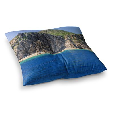 Nick Nareshni Stone Hills Coastline Photography Square Floor Pillow Size: 26 x 26
